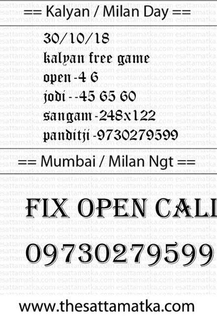 Kalyan Mumbai Satta Matka Boss King | TheSattaMatka Com