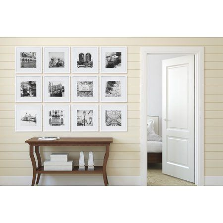 12 Piece 12x12 White Frame Kit Matted To 8 X8 Gallery Wall Frames Frame Wall Decor Frame Decor