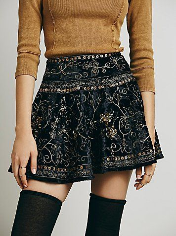 Free People Kleine Layla Velvet Mini in Free People Clothing Boutique - Stil Outfits
