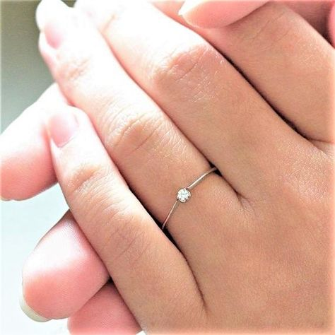 Femmes//Fille 925 Sterling Silver Dainty Vintage Chaîne Bague Taille 4 To 6.5