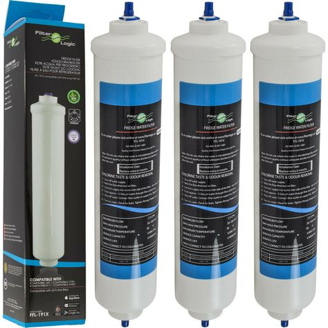 3x FilterLogic FFL-191X Samsung HAFEX//EXP DA29-10105J kompatibler Wasserfilter