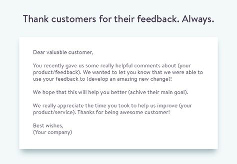 Email Template To Ask For Customer Feedback  Customer Feedback