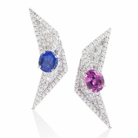 pink Mismatched earrings from the...