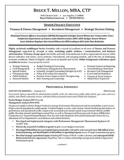 Financial Manager Resume Example Resume examples and Financial - company financial analysis report sample