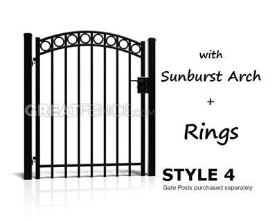 Industrial Single Swing Aluminum Gate S4 Smooth Flat Top Aluminium Gates Gate Single Swing