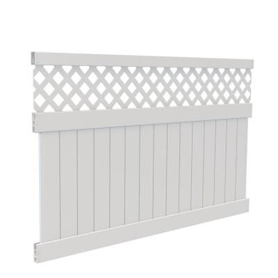 Veranda 5 Ft H X 8 Ft W White Vinyl Anderson Privacy Fence Panel Kit 73025020 The Home Depot Privacy Fence Panels Vinyl Privacy Fence White Vinyl Fence