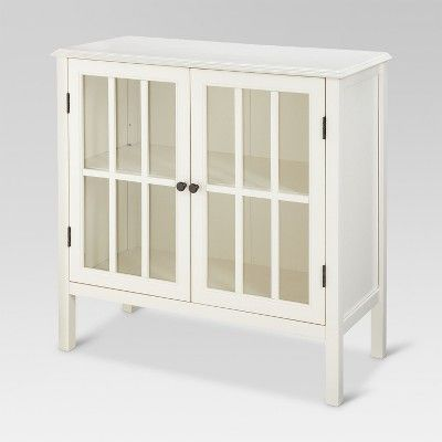 Windham 2 Door Accent Cabinet Shell White Threshold Accent Doors Accent Cabinet Entryway Cabinet