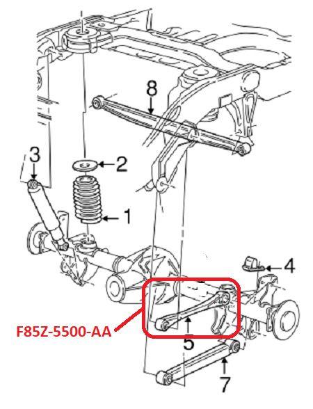 1997 2002 Expedition Navigator Rear Upper Trailing Control Arm F85z 5500 Aa Mtc Ford Expedition Expedition Control Arm