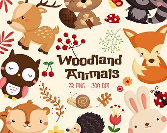 Cute Fox Clipart Hipster Fox Clip Art Cute Animal Free Etsy Animal Clipart Woodland Animals Clip Art