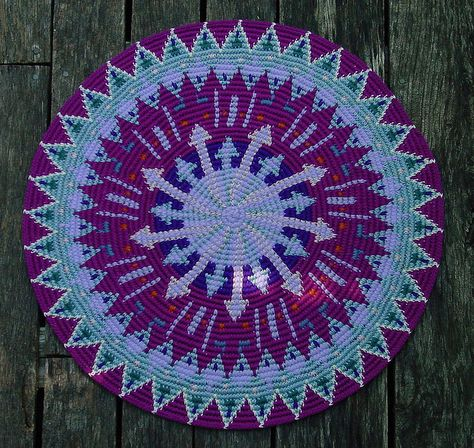 Folk Formal - tapestry crochet rug