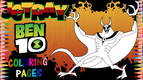 Ben 10 Reboot Jetray Coloring Page Ben 10 Coloring Pages Color