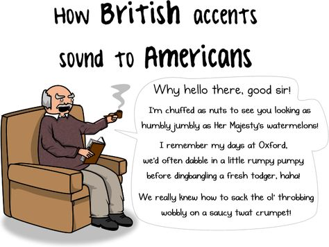 British accents VS American accents - The Oatmeal