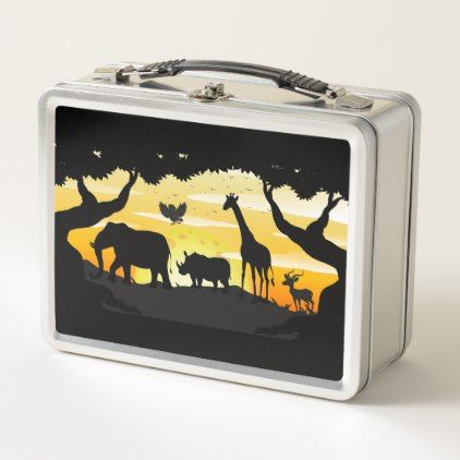 Safari Metal Lunch Box | Zazzle com | lunch boxes | Metal lunch box