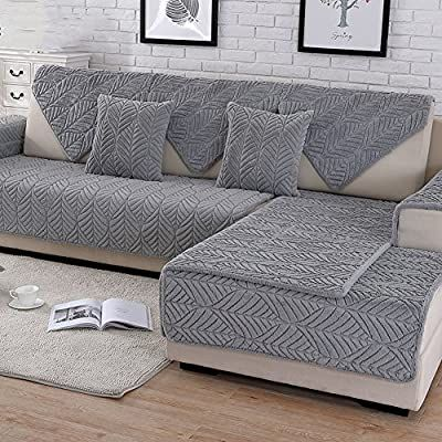 Amazon Com Capa De Sofa De Pelucia Hm Dx Capa De Sofa Grossa Acolchoada Antiderrapante Resiste In 2020 Sectional Couch Cover Slipcovered Sofa Couch Covers Slipcovers