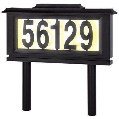 Meridian Point Solar 1 Line Address Plaque Frame Set Address Plaque Meridian Points Led House Numbers