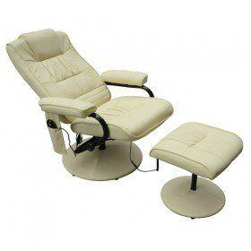 HOMCOM Fauteuil de Massage Vibration Électrique Relaxation