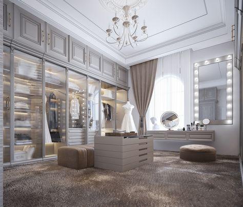 Luxury Bedroom Design, Bedroom Closet Design, Luxury Rooms, Home Room Design, Room Ideas Bedroom, Dream Home Design, Luxurious Bedrooms, Dressing Room Decor, Dressing Room Design