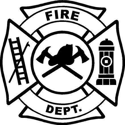 Black Vinyl Decal Maltese Cross Fire Badge Fireman Ladder Ax Fun Sticker Unbranded Crest Template Fun Stickers Fire Badge