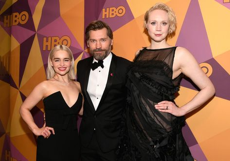 Actors Emilia Clark, Gwendoline Christie, and Nikolaj Coster-Waldau attend HBO's Official Golden Globe Awards After Party.