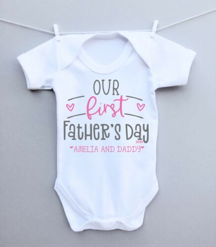 Father/'s Day My First Fathers Day Baby gift Fathers Day Personalised baby clothes Personalised Baby unisex vest