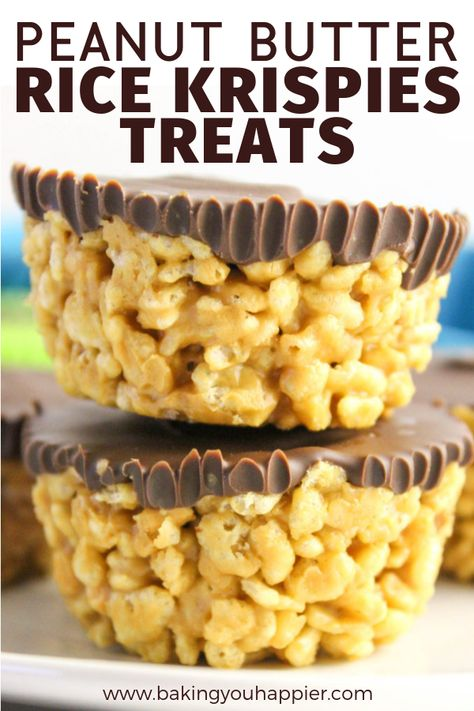 dessert recipes Peanut Butter Rice Krispies Treats, a dairy-free quick and easy to make no bake dessert! Everyone will love this not too sweet crispy treat! Sweet & Easy, How Sweet Eats, Easy Desserts, Delicious Desserts, Dessert Recipes, Fudge Recipes, Rice Recipes, Easy Sweets, Baking Desserts