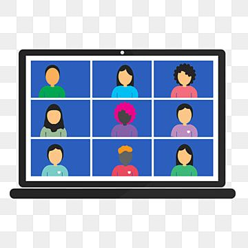 Gambar Pelajaran Video Call Sekolah Kelas Online Dari Kolega Rumahan Berbicara Di Layar Laptop Video Panggilan Berani Png Transparan Clipart Dan File Psd Unt Student Cartoon School Illustration School Cartoon