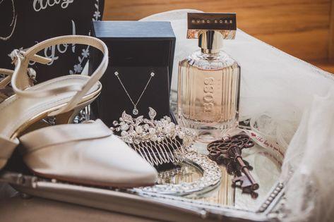 R + P  wedding | Rivervale Barn wedding photography | Bridal jewellery and perfume | London wedding photographer