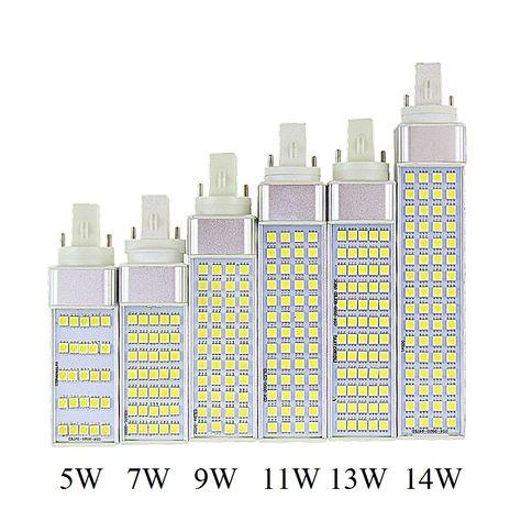 5 08 Know More Lampada G23 G24 E27 5w 7w 9w 11w 13w 14w 85v 265v Ac Horizontal Plug Lamp Smd5050 Bombillas Led Corn Bulb Spot Light Ce Rohs Maga Osveshenie