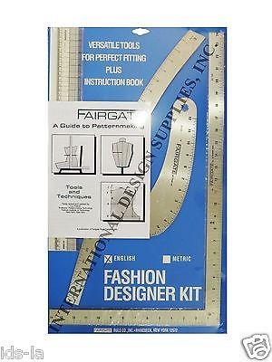 Details About Fairgate 15 102 Fashion Designer S Kit Essential Pattern Making Rulers Curves Beginner Sewing Projects Easy Design Kit