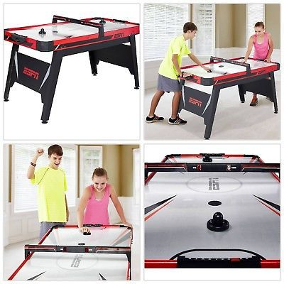 Air Hockey Table Espn Arcade Electronic Scorer Full Size Kids Game Room Sports Game Room Sports Games For Kids Air Hockey