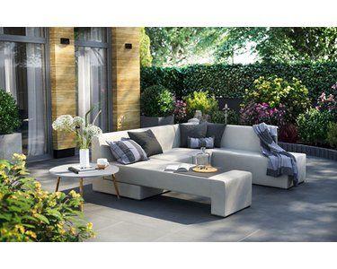 Lounge Set Mentone 3 Teilig Aus Axvision Ausfuhrung Rechts Grau Kaufen Bei Obi Grosse Sitzkissen Modulares Design Lounge