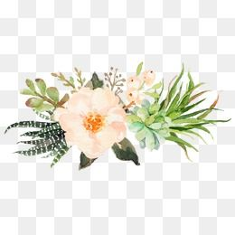 Small Fresh Pink Watercolor Flowers Watercolor Clipart Fresh