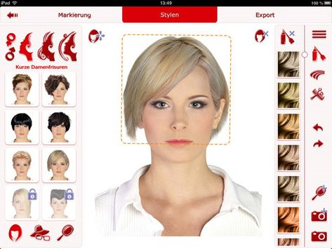Frisuren testen mit eigenem foto app
