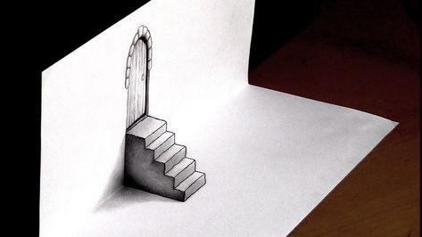 3D DRAWING of a Door and Steps