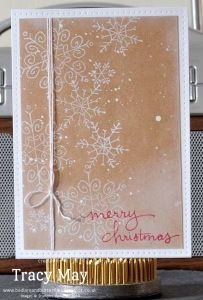 stampin up uk independent demonstrator Tracy May christmas photopolymer stamps Endless Wishes Kraft