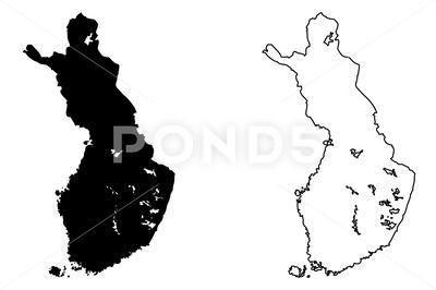Finland Map Vector Royalty Free Illustration 79026782