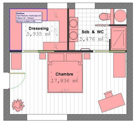 Plan Suite Parentale Avec Salle De Bain Et Dressing #4   Plan Suite  Parentale