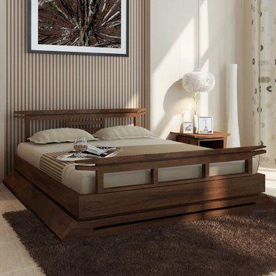 Brayden Studio Cecere Solid Wood Platform Bed Japanese Style Bedroom Japanese Platform Bed Asian Style Bedrooms Asian style bed frame