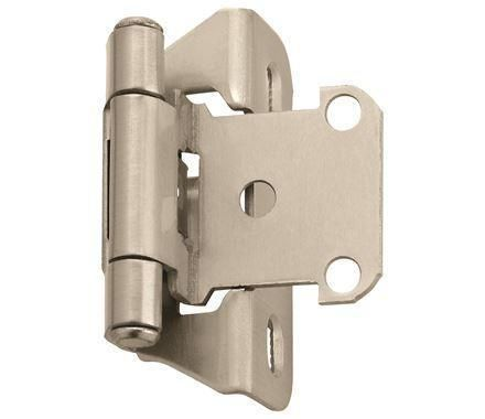 Self Closing Partial Wrap 1 4 Inch Overlay Cabinet Hinges Multiple Finishes 2 Pack Kitchen Cabinets Hinges Amerock Hinges For Cabinets
