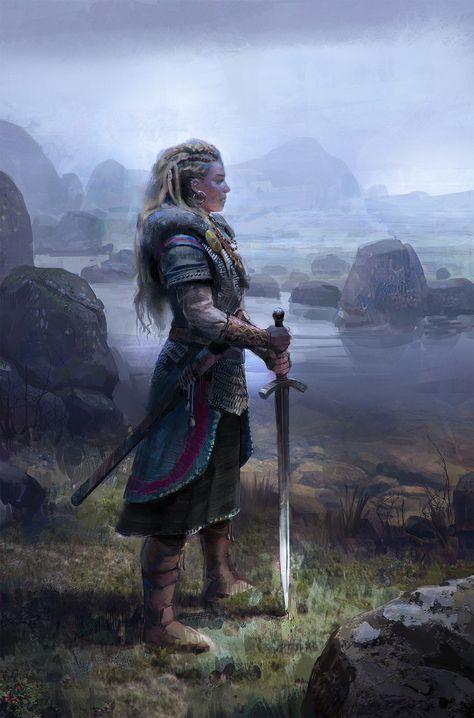 Viking Woman, John Wallin Liberto on ArtStation at