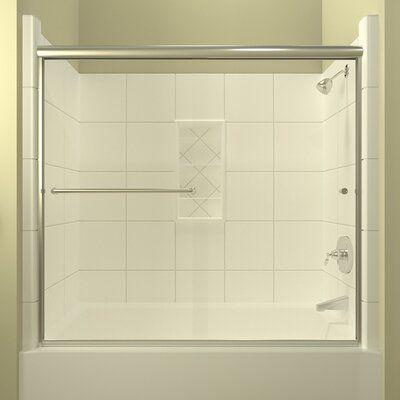 Arizona Shower Door Ete 60 X 57 5 Bypass Semi Frameless Tub Door