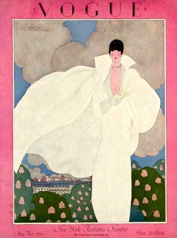 ⍌ Vintage Vogue ⍌ art and illustration for vogue magazine covers - Georges Lepape, May 1925