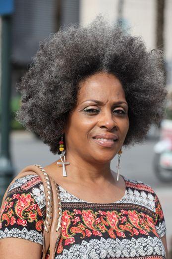Grey Afro In 2019 Natural Hair Styles Hair Styles Natural Hair
