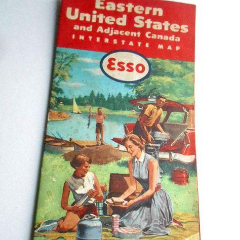 Vintage 1958 ESSO Standard Oil Company Eastern United States ...