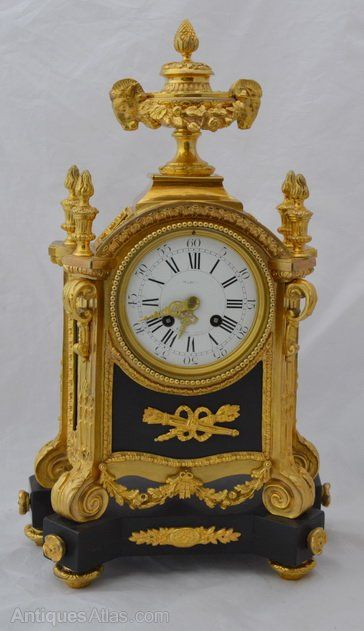 A Ay Freres Gilt French Mantle Clock
