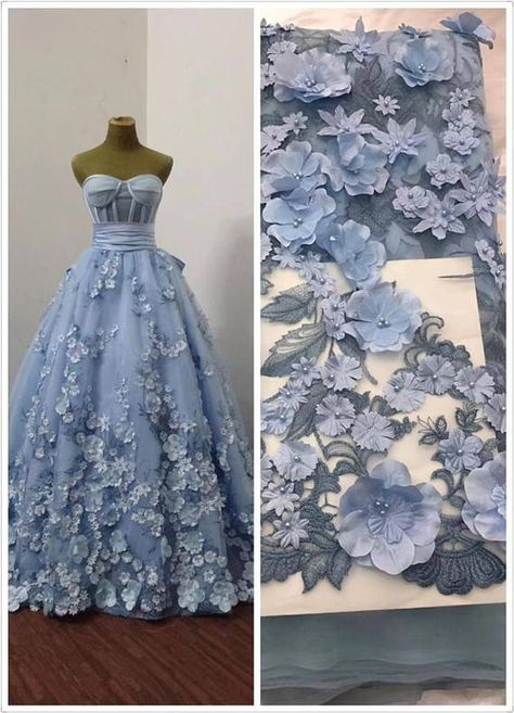 Items similar to Blue lace fabric, heavy embroidered tulle lace fabric, French lace fabric with flowers, bead lace fabric with florals, bridal lace on Etsy Gold Lace Fabric, Bridal Lace Fabric, Embroidered Lace Fabric, Tulle Lace, Pink Lace, Fabric Flowers, Lace Dress, Floral Lace, Lace Applique