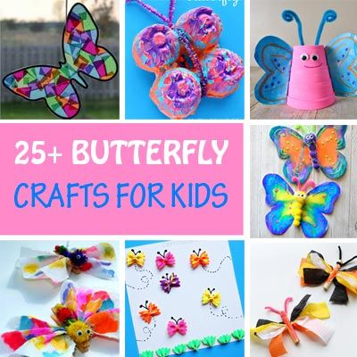 25 Butterfly Crafts For Kids Easy Spring Craft Ideas With Images Butterfly Crafts Spring Crafts Crafts For Kids
