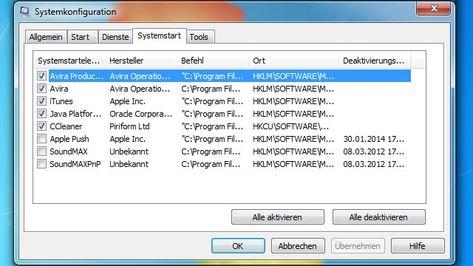 Den Windows Start Beschleunigen Programme Aus Autostart Entfernen Programm Der Computer Und Windows Xp