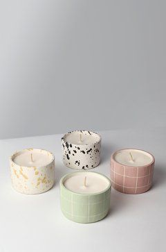 Cute Candles, Diy Candles, Scented Candles, Homemade Candles, Candle Jars, Ceramic Pottery, Pottery Art, Pottery Painting, Ceramic Art