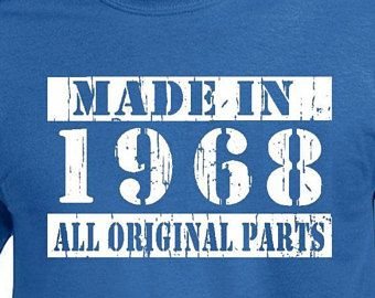 50th Birthday Gift For Men T Shirt Funny Vintage Turning 50 Years Old Made In 1968 Tshirt Husband Uncle Bday Born Tee
